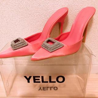 イエローブーツ(Yellow boots)のyello イエロー 星あや ミュール ビジュー birthdaybash (ミュール)