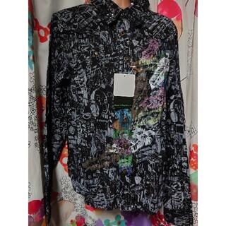 スカラー(ScoLar)の新品未使用メンズスカラー●キラキラしぼシャツ長袖(シャツ)
