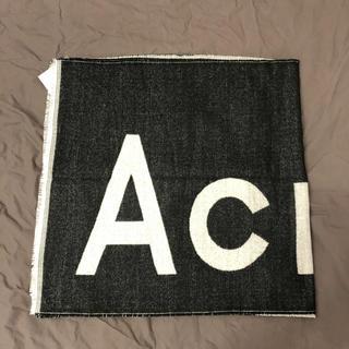 アクネ(ACNE)のAcne Studiosロゴジャガードスカーフ新品未使用(マフラー)