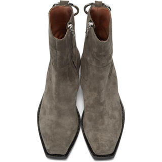 Balenciaga - Vetements Taupe Suede Ring Ankle Boots