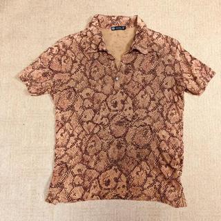 JOHN LAWRENCE SULLIVAN - パイソン柄ポロシャツ
