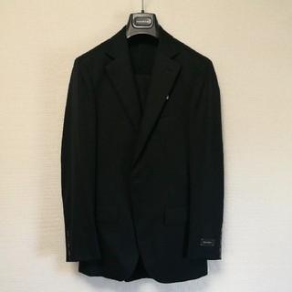 エルメネジルドゼニア(Ermenegildo Zegna)の新品 エルメネジルドゼニア ブラックスーツ サイズ52 100%ウール 黒 礼服(セットアップ)