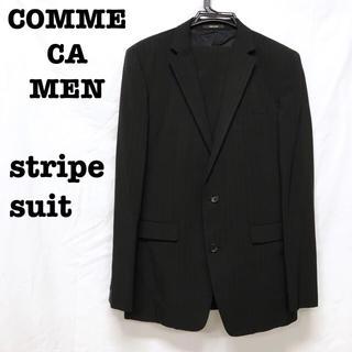 コムサメン(COMME CA MEN)の美品【 COMME CA MEN コムサメン  】  ストライプスーツ(セットアップ)