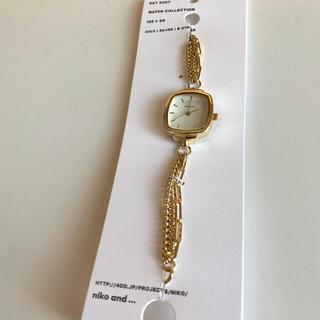 ニコアンド(niko and...)の新品 nikoand ニコアンド チェーンブレスウォッチ ゴールド(腕時計)