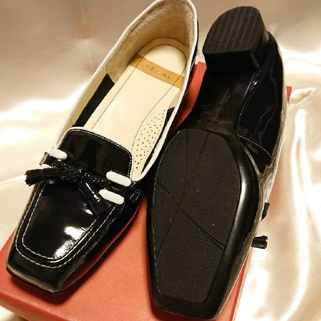 REGAL(リーガル)のリーガル タッセルリボンエナメルローファー    レディースの靴/シューズ(ローファー/革靴)の商品写真