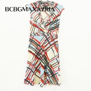 ビーシービージーマックスアズリア(BCBGMAXAZRIA)の ビーシービージーマックスアズリア ワンピース サイズxxs XS美品(ひざ丈ワンピース)