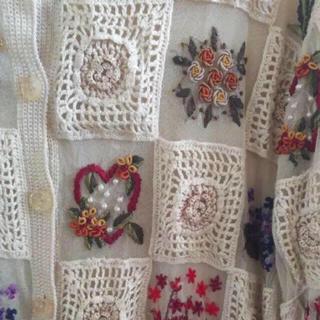 グリモワール(Grimoire)の花柄 刺繍 カーディガン(カーディガン)