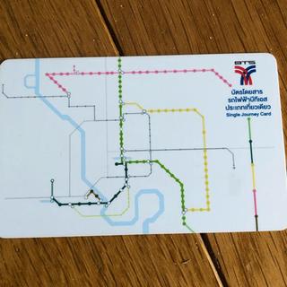 タイ バンコク BTS 鉄道 ICカード(鉄道乗車券)