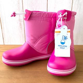crocs - ★新品正規品★クロックス ロッジポイント スノーブーツ ピンク 19.5cm