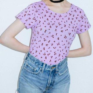 エックスガール(X-girl)の新品タグ付きエックスガール FLORALBABYTEE Tシャツ Sサイズ(Tシャツ(半袖/袖なし))