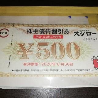 スシロー 株主優待券(フード/ドリンク券)