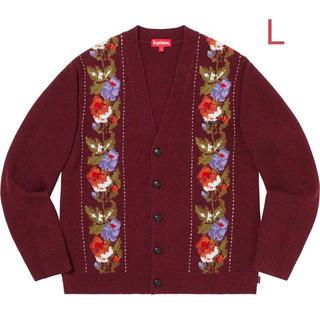 シュプリーム(Supreme)のSupreme Floral Stripe Cardigan Red L(カーディガン)