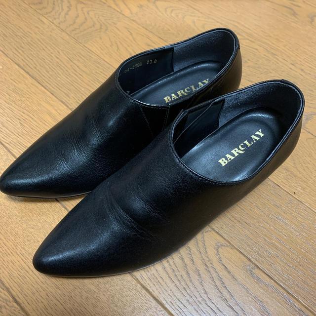 BARCLAY(バークレー)のBARCLAY バークレー 神戸婦人靴 23cm ブラック ショートブーツ 黒 レディースの靴/シューズ(ブーティ)の商品写真