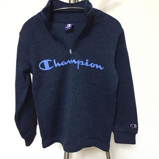 Champion - チャンピオン☆140㎝ ニット ジップ トップス ネイビー
