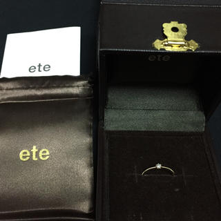 エテ(ete)のete K18 ダイヤ ピンキーリング(リング(指輪))