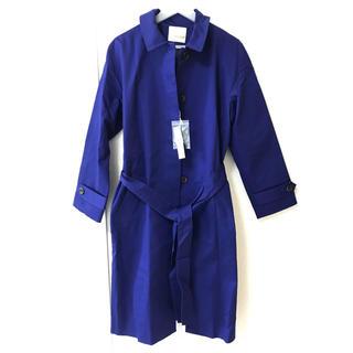 メルローズクレール(MELROSE claire)のメルローズ ロングコート ブルー(トレンチコート)