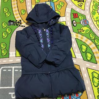 アナスイミニ(ANNA SUI mini)のアナスイミニ  ダウンコート ジャケット 2way  ネイビー 140(コート)