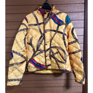 ラルフローレン(Ralph Lauren)のラルフローレン スカーフ柄 ダウンジャケット  タグ付き(ダウンジャケット)