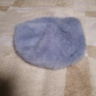 WEGO - wego グレー アンゴラ ベレー 帽子