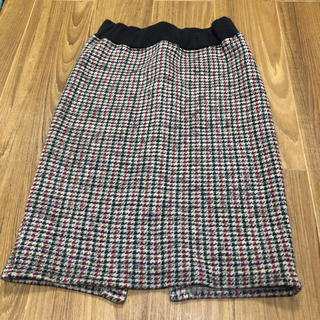 ボヌール 裏起毛タイトスカート(ひざ丈スカート)