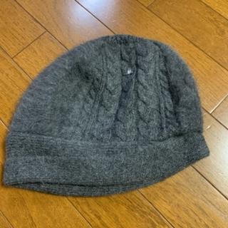 ランバンオンブルー(LANVIN en Bleu)のランバンオンブルータグ付きニット帽❤️(ニット帽/ビーニー)
