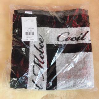 セシルマクビー(CECIL McBEE)のセシルマクビー  バスタオル 黒ロゴ(タオル/バス用品)