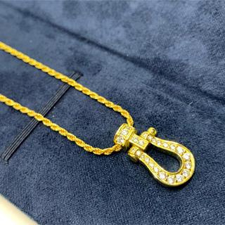フレッド(FRED)の22k plating cz diamond horse necklace(ネックレス)