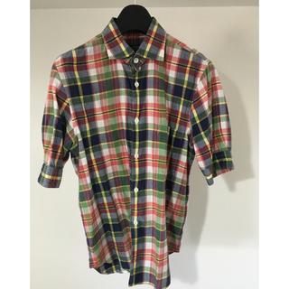 コムデギャルソンオムプリュス(COMME des GARCONS HOMME PLUS)のcomme des garcons hommeplus 半袖チェックシャツ(シャツ)