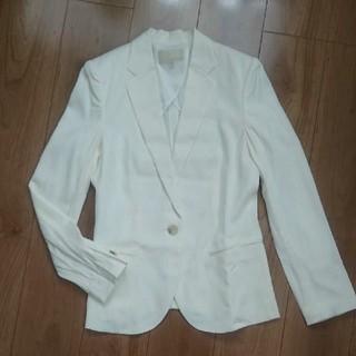 アンタイトル(UNTITLED)のUNTITLED   テーラードジャケット  白(テーラードジャケット)