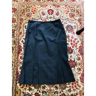トゥモローランド(TOMORROWLAND)のウール グレー マーメイド スカート(ひざ丈スカート)