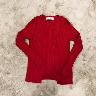 エヌナチュラルビューティーベーシック(N.Natural beauty basic)のN.  綺麗な赤いカーディガン(カーディガン)