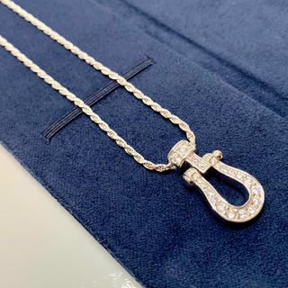 フレッド(FRED)のwhite gold cz diamond horse necklace(ネックレス)