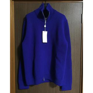 マルタンマルジェラ(Maison Martin Margiela)のL新品59%off メゾンマルジェラ ドライバーズニット セーター ブルー (ニット/セーター)
