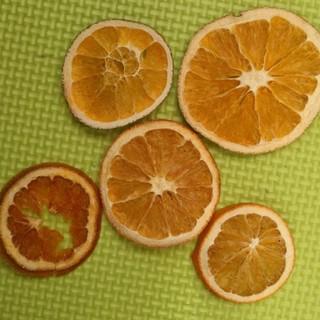 花材(ドライフルーツ)オレンジ(ドライフラワー)
