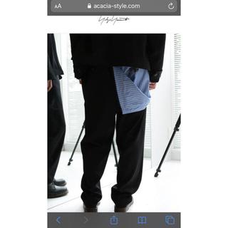 ヨウジヤマモト(Yohji Yamamoto)のヨウジヤマモト yohji yamamoto 17aw ストライプパンツ(スラックス)