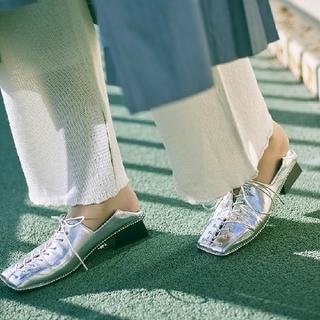 アメリヴィンテージ(Ameri VINTAGE)の【Ameri 】 LACE UP LOAFER  シルバー(ローファー/革靴)