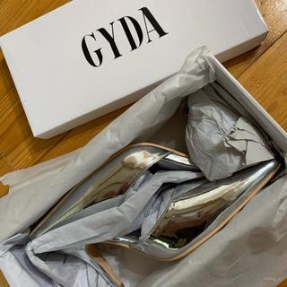 ジェイダ(GYDA)の新品未使用 ジェイダ GYDA  シルバー パンプス ミュール(ハイヒール/パンプス)