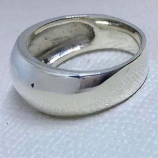 ワイド 甲丸 シルバー925 リング  27号 幅広 大きい ビッグサイズ銀指輪(リング(指輪))