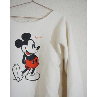 アメリカ製 Used ミッキーマウス スウェット ホワイト(トレーナー/スウェット)