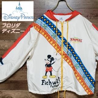 ディズニー(Disney)のタグ付新品《激レア》ナイロンパーカー  フロリダディズニー限定 フードブルゾン(ナイロンジャケット)