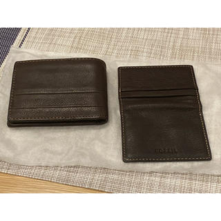 フォッシル(FOSSIL)のFOSSIL 財布 ウォレット 二つ折り 牛皮 ブラウン(折り財布)