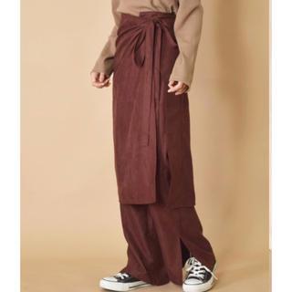 w closet - w closet ダブルクローゼット ラップスカート付きスリットイージーパンツ