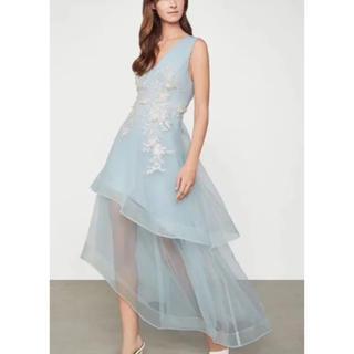 ビーシービージーマックスアズリア(BCBGMAXAZRIA)のBCBGマックスアズリア 19年新作 刺繍ドレス(ロングドレス)