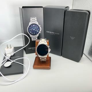 エンポリオアルマーニ(Emporio Armani)の美品 ARMANI アルマーニ デジタルウォッチ 時計 正規品(腕時計(デジタル))