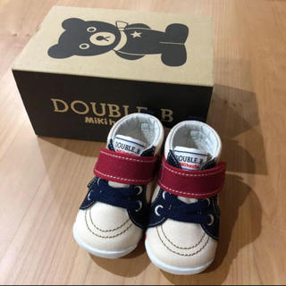 DOUBLE.B - 新品☆ ミキハウス ダブルビー ファーストシューズ 靴