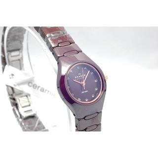 スカーゲン(SKAGEN)の【値下げ!】SKAGEN/スカーゲン◆腕時計 セラミック スワロフスキー(腕時計)