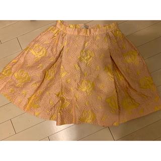 ミュウミュウ(miumiu)のミュウミュウ 花柄フレアスカート(ミニスカート)