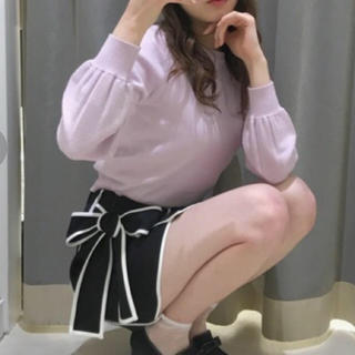 ティティアンドコー(titty&co)のtitty&Co. パイピングリボンスカート ブラック(ミニスカート)