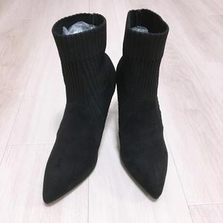 ZARA - ショートブーツ★靴下ブーツ★ヒール8センチ★23.5センチ★ZARA系★値下げ