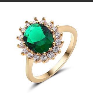 グリーンダイヤ リング 指輪 レディース  新品 売れ残り プレゼント (リング(指輪))